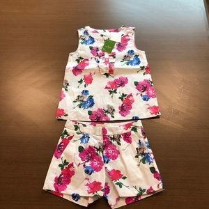 NWT Kate Spade top and shorts set size 5T